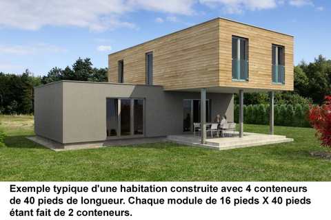 Conteneurs recycl s construction de maisons et logement for Autoconstruction maison container