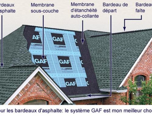 Toitures de bardeaux d'asphalte : pour une toiture plus durable
