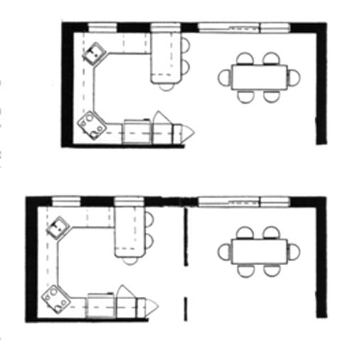 Plans et design de la cuisine et salle manger for Plan de la cuisine