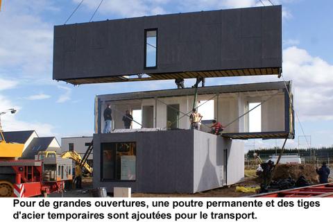 conteneurs recycl s construction de maisons et logement. Black Bedroom Furniture Sets. Home Design Ideas