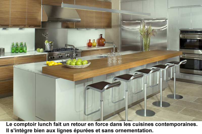 Cuisine de design contemporain et r novation for Cuisines incorporees