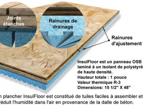 Isolant et drainage des planchers de sous-sols existants