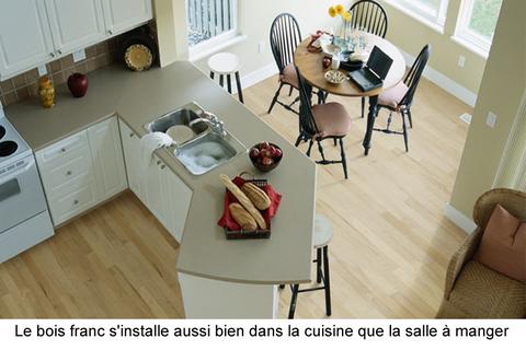 Plancher de bois franc massif ou ing nierie guide perrier for Cuisine plancher bois