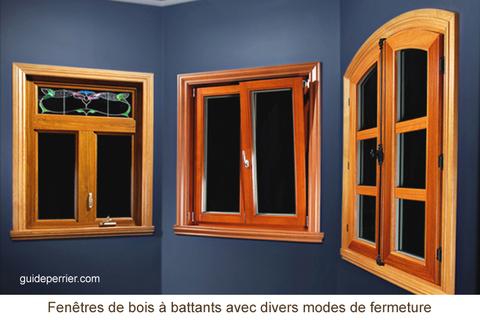 Choix de fen tres les fen tres en bois guide perrier for Fenetre rectangle