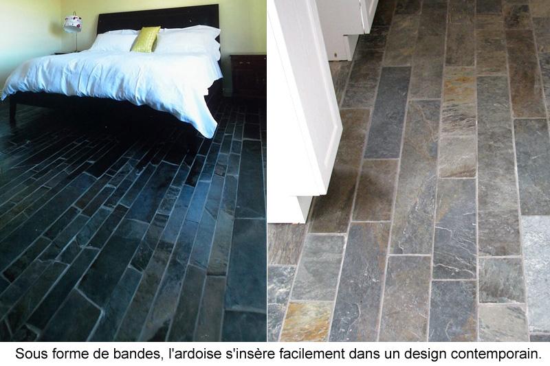 Ardoise canadienne pour murs et planchers guide perrier - Plancher ardoise cuisine ...