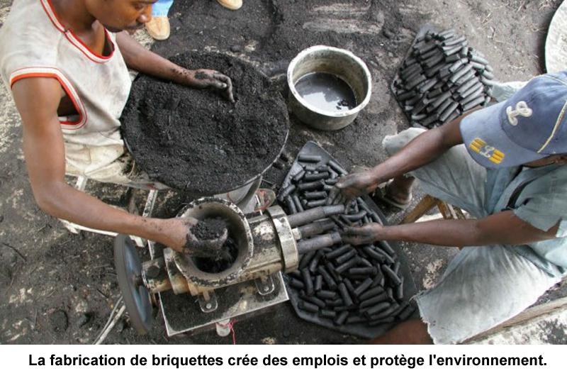 Biomasse fabrication de biocharbon en afrique guide perrier - Briquette de charbon ...