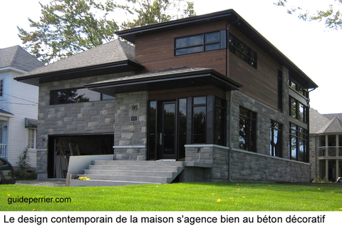 Une maison neuve contemporaine avec finition de b ton d coratif guide perrier for Interieur maison design contemporain