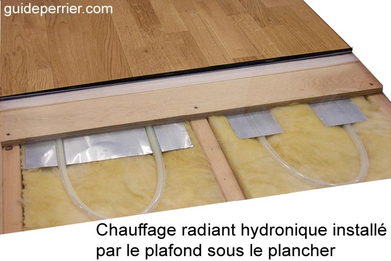 chauffage radiant eau chaude sur plancher de bois. Black Bedroom Furniture Sets. Home Design Ideas