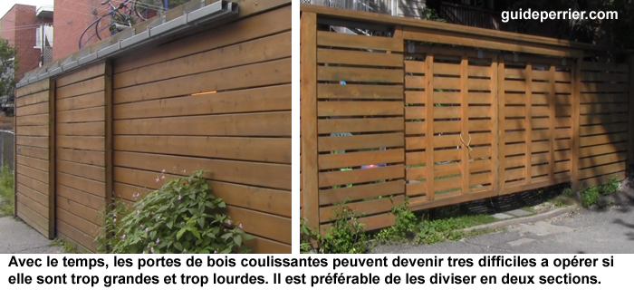 Cl tures contemporaines mat riaux et design guide perrier for Porte de cloture en bois