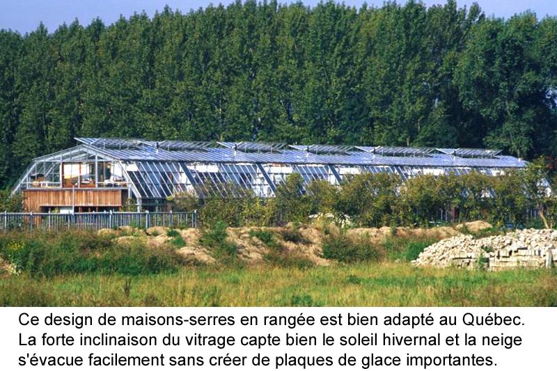Maison solaire passive avec serre pour pays froids - Faire une serre maison ...