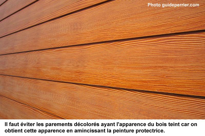 Revtement extrieur imitation bois revetement mural - Peinture imitation bois ca existe ...