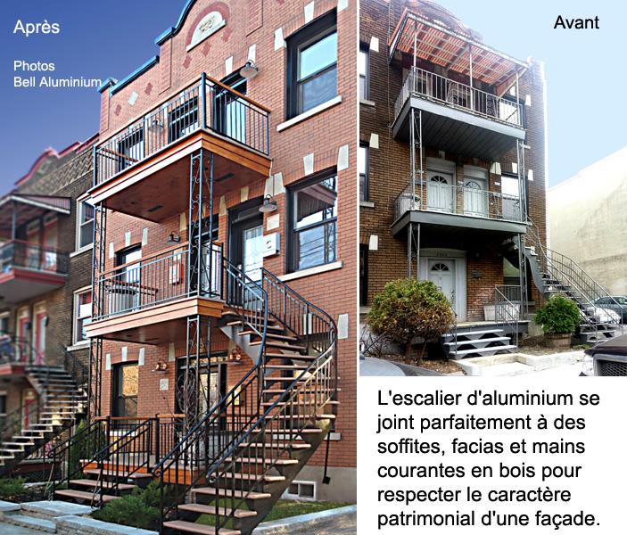 aluminium balcon escalier exterieur