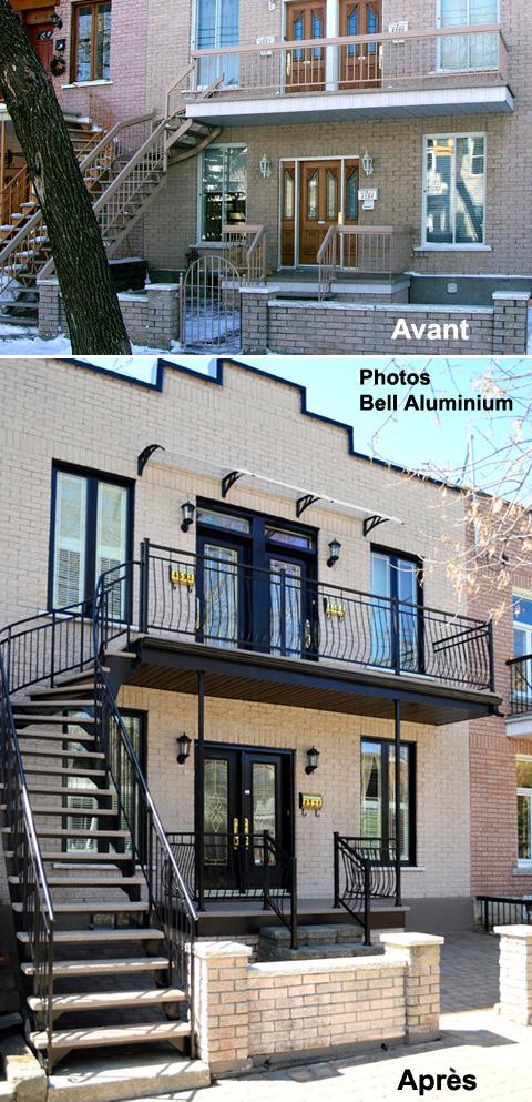 facade renovation escaliers balcons