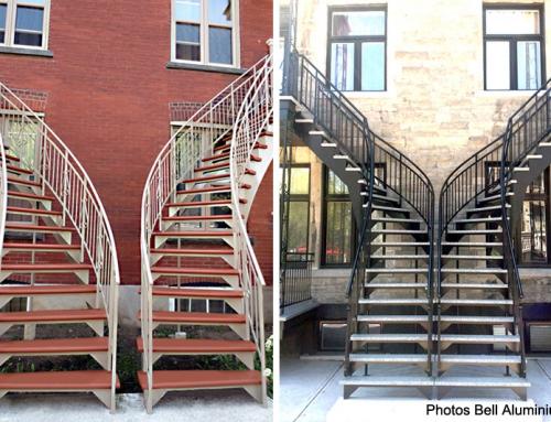 Escaliers extérieurs en aluminium et patrimoine architectural