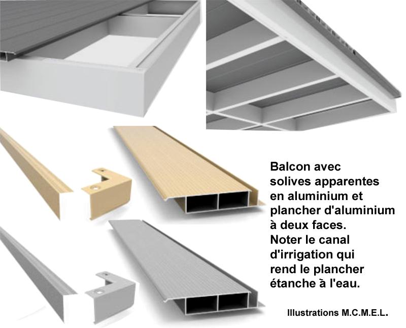 balcons aluminium plancher