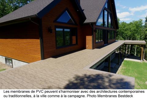 Membrane de PVC pour balcons et toits-terrasses