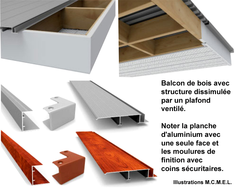 plancher structural en aluminium extrud pour balcons terrasses. Black Bedroom Furniture Sets. Home Design Ideas