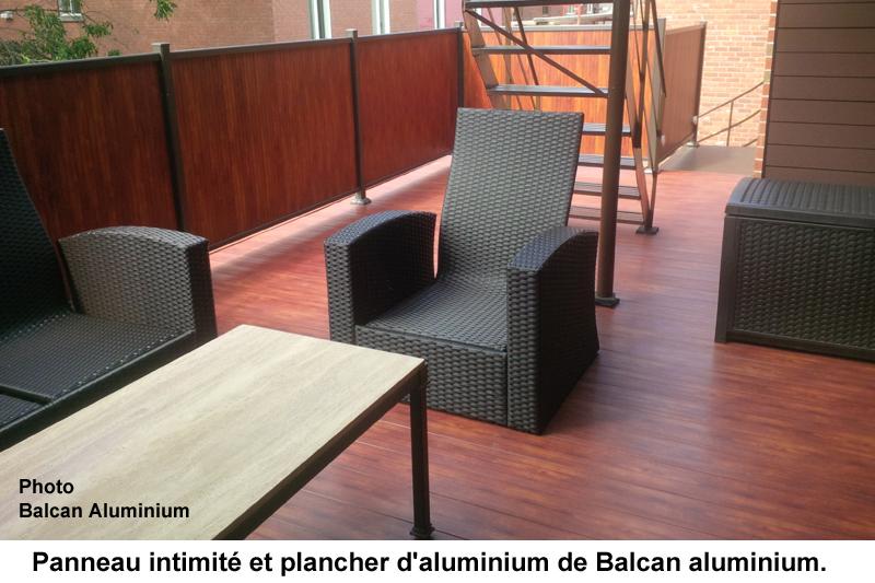 Plancher structural en aluminium extrud pour balcons for Couvre plancher pour patio exterieur