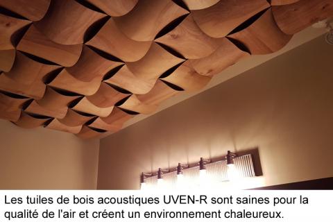 UVEN-R: une tuile acoustique de bois, chic et écologique