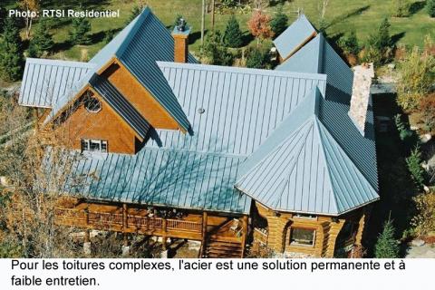 Les toitures d'acier : de plus en plus durables