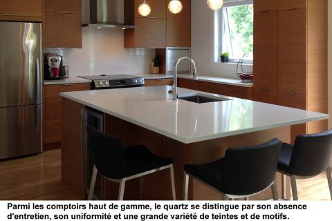 Comptoirs de cuisine : quartz, bois, béton, acier inox, stratifié ou céramique?