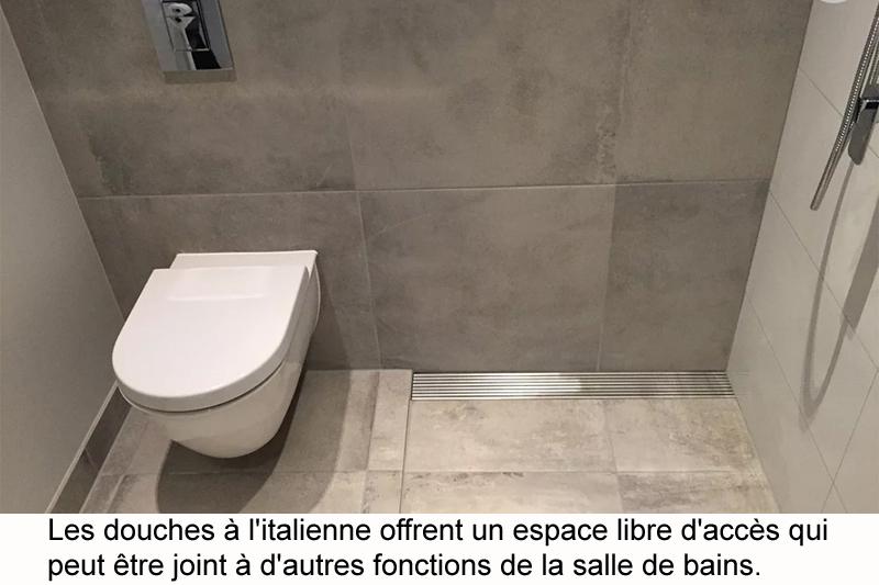 Douche à l\'italienne pour salle de bain contemporaine