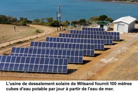 Usine de dessalement solaire: de l'eau pour 3 000 habitants